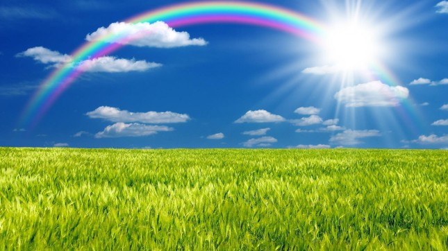 rainbows-rainbow-blue-green-grass-sky-sun-clouds-images-1920x1080